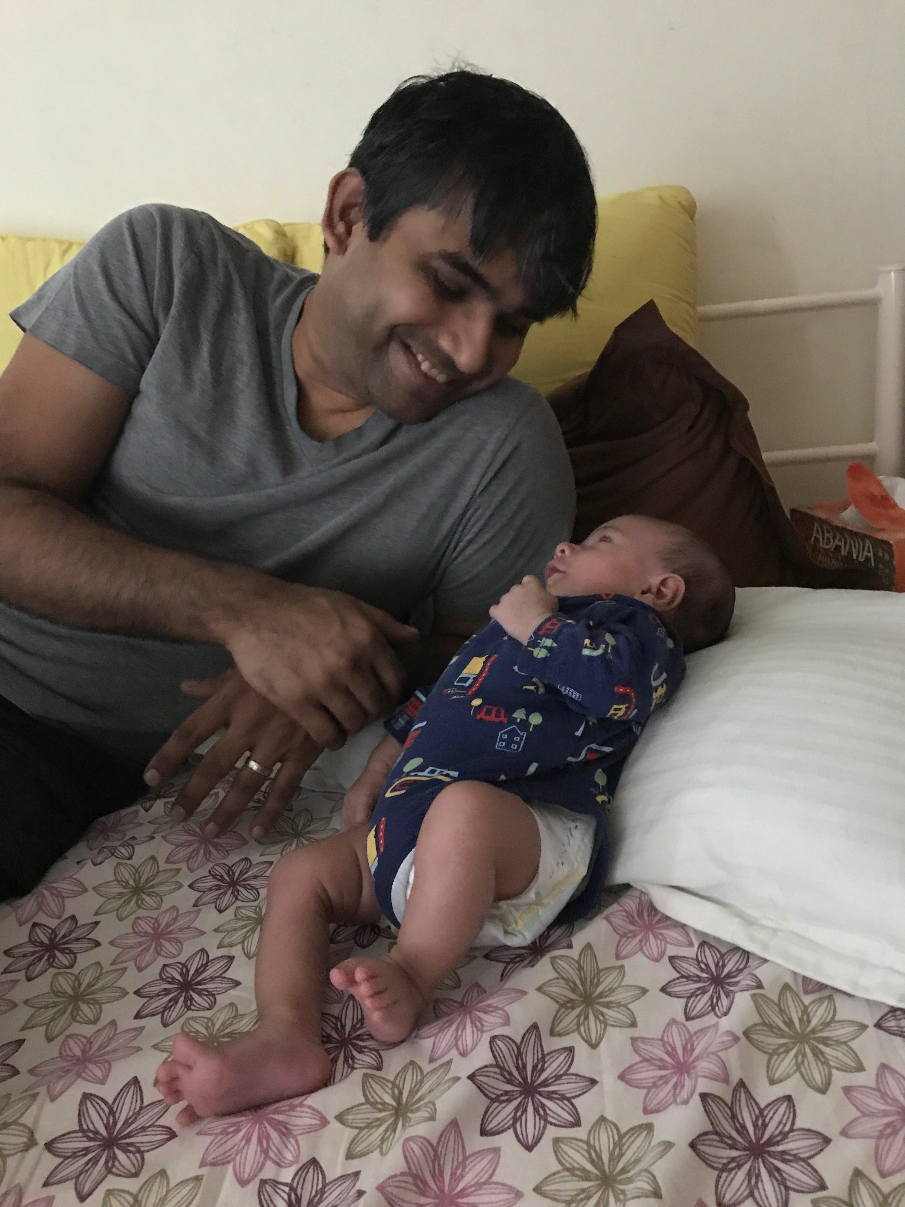 naren and baby