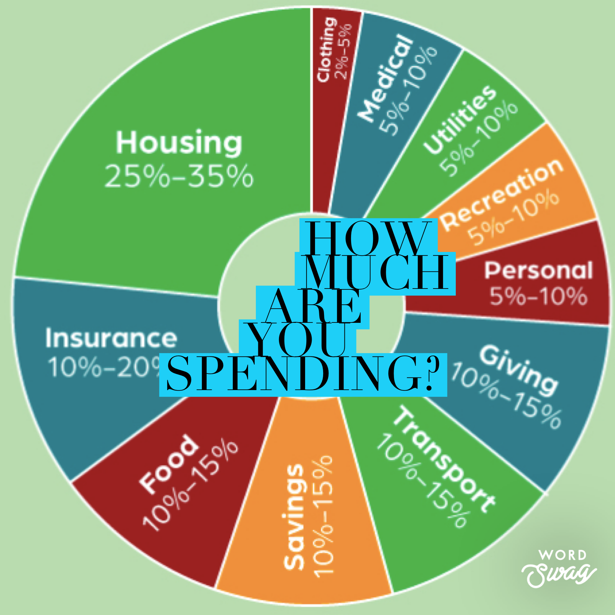 Ideal spending % category wise